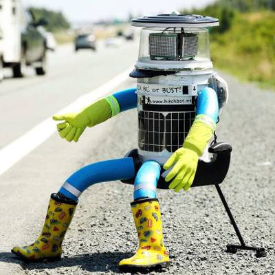 Would You Give a Hitchhiking Robot a Ride Cross-Country?